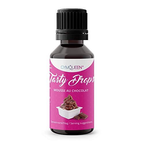 GymQueen Tasty Drops 30ml | Kalorienfreie, Zuckerfreie und Fettfreie Flavour Drops | Aroma Tropfen zum Süßen von Lebensmitteln | Geschmackstropfen ohne Künstliche Farbstoffe I Mousse au Chocolat