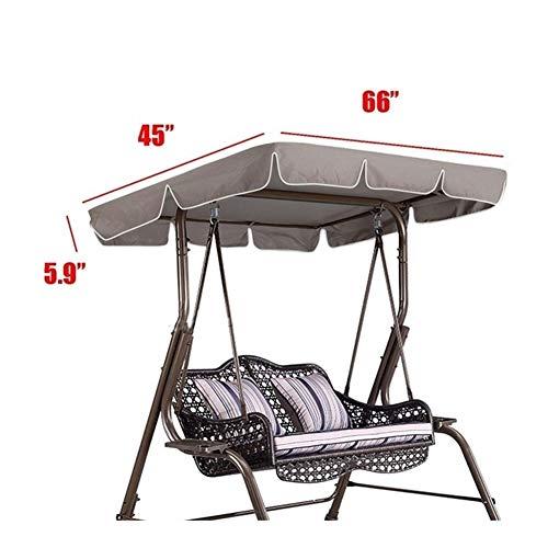 Altamente 75 'x52' X5.9' oscilación del jardín de toldo impermeable al aire libre Gazebo Canopy Patio Columpio for la terraza Hamaca tienda verano Parasol de Vela elección ( Color : Dark Grey )