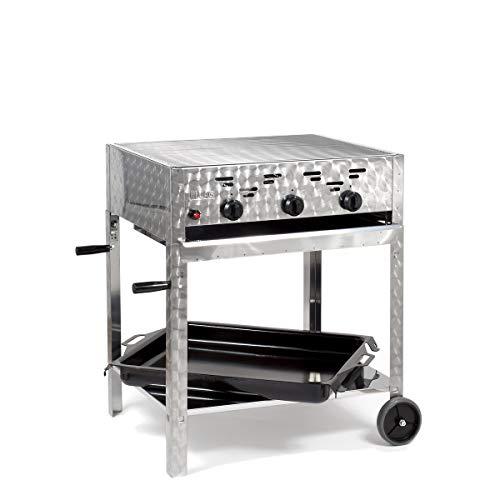 LAG Gasgrill-Kombibräter 11 kW fahrbar mit Grillrost und emaillierter Stahlpfanne 3-flammig Gasgrill Grill Gastrobräter Profigrill Verein