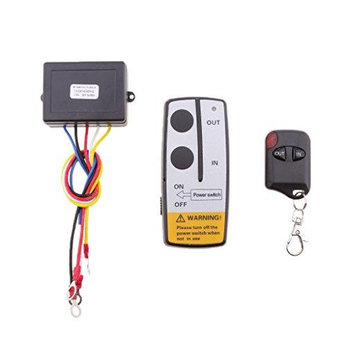 PETSOLA 30m 12V / 24V Winch Remote Receiver Switch Handset para Coche ATV SUV KLS-998X