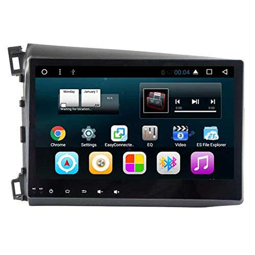 TOPNAVI pour Honda Civic 2012 2013 2014 Android 7.1 Tête De Voiture Unité de Navigation GPS Navigation Voiture Stéréo Radio Lecteur avec Quad Core 16 Go ROM 1 Go de RAM WiFi 3G RDS