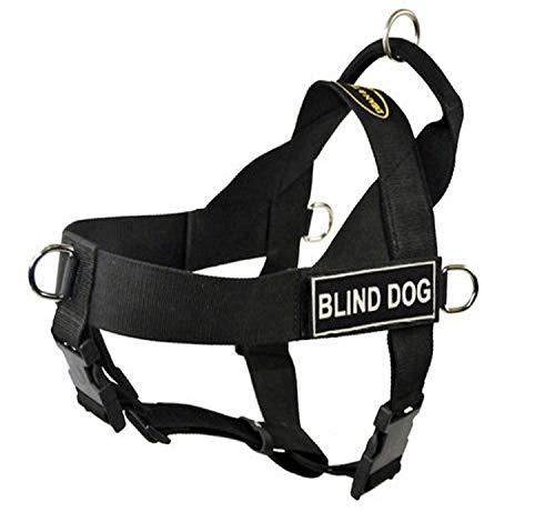 Dean & Tyler D&T UNIVERSAL BLINDDOG BK-XL DT Universal No Pull Dog Harness, Blind Dog, X-Large, Fits Girth, 91cm to 119cm, Black