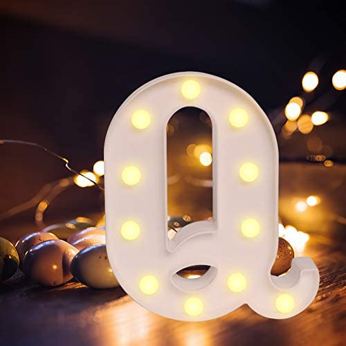 Light Up Letters,Alphabet LED Letter Lights Warm White Night Light Letters for Home Party Bar Wedding Festival Decorative (A)