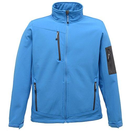 Regatta Standout Herren Arcola Softshell-Jacke, wasserdicht, atmungsaktiv (XLarge) (Signalblau/Grau)
