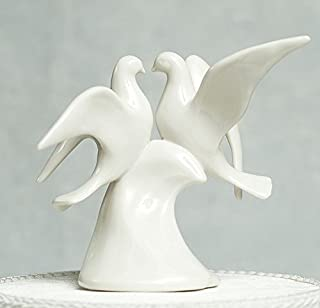 Doves Porcelain Wedding Cake Topper
