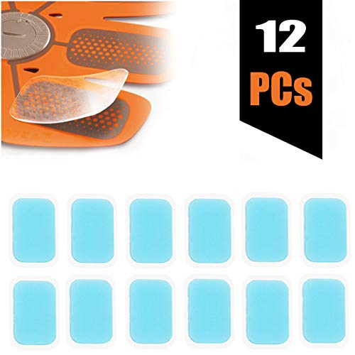 Slimerence EMS Gel Pad, Abs Trainer Replacement Gel Sheet Abdominal Toning Belt Muscle Stimulatior Toner Ab Trainer Accessories 12pcs Gel Sheets