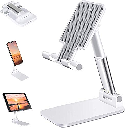 Pullox SSEA Aluminium Adjustable Mobile Phone Foldable Holder Stand Dock Mount for All Smartphones Tabs Kindle iPad Colour ma Variable