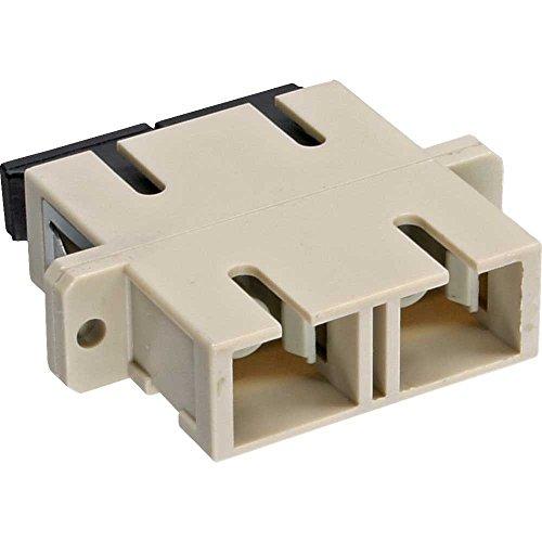 InLine 89992A LWL Kupplung, Duplex SC/SC, multimode, beige, Keramik-Hülse, zum Einbau