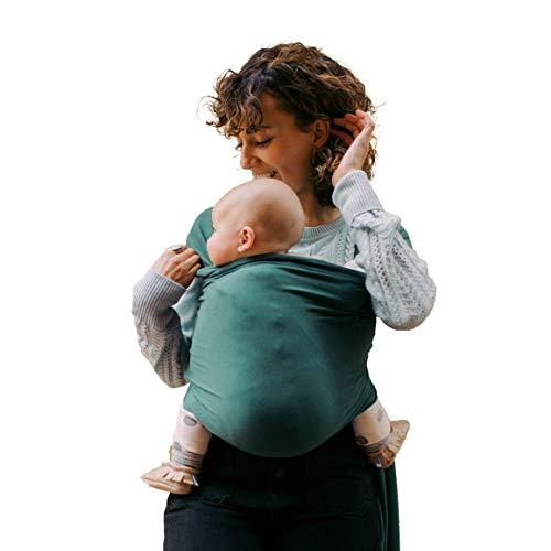 Boba Wrap, Fular Elástico Portabebé Ergonómico | Ideal Porteo Recién Nacidos (Organic Rainforest)