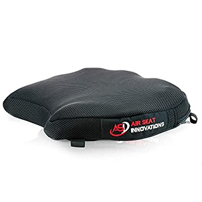 """Air Motorcycle Seat Cushion Pressure Relief Pad Large for Cruiser Touring Saddles 15"""" x 13.5"""" by Air Seat Innovations"""