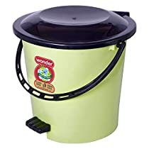 Wonder Plastic Prime Pedal Ultra Dustbin, For Home/Kitchen/Office, 1 Pcs Dustbin 6 LTR, Green Color, Made in India