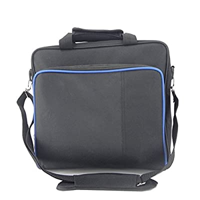 Playstation Carrying Case, Sturdy Durable Portable Nylon Taffeta Travel Shoulder Bag Videogame Console Bag for PS4, PS4 Slim and PS4 Pro #81050 …
