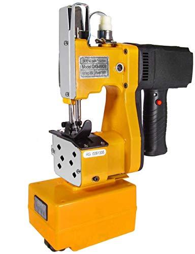 MXBAOHENG Maquinas de Coser Sacos 220V (con Batería) Maquina de Coser Lonas Con función de Tangente Manual y Automática para Coser / Sellar Bolsas