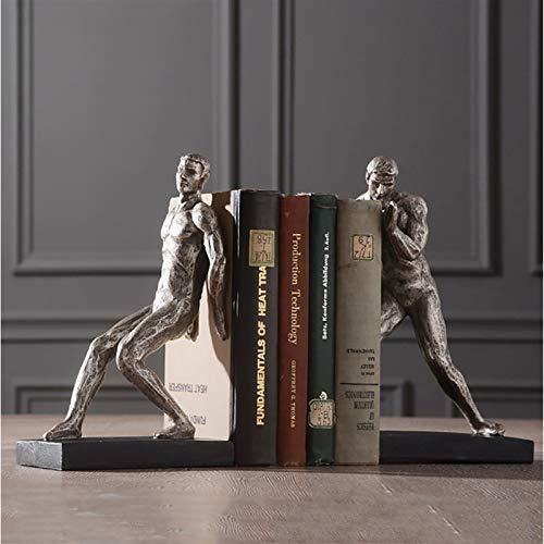 Sujeta Libros Sujetalibros El libro de resina termina, gimnasia, los libros de decoración del estudio humano, sencillo y creativo, se basan en los puestos de libros de oficina Creativa Sujetalibros