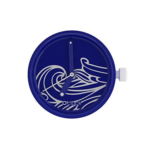 Fullspot O clock Cassa Sunlight Wave meccanismo blu MEC.NSN - Orologio da polso Unisex …