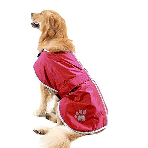 Fgsdi9wer Huisdier Hond Winter Coat-Hond Coat-Kat Trui Verkopen goed en Winter Stijl Golden Retriever Labrador Enorme Huisdier Hond Katoen Kleding met Reflecterende Tape, Maat: XL, Borst: 76-84cm, Nek: 47-52cm(Leger Gr, Wijn Rood