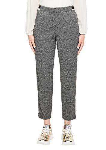 s.Oliver BLACK LABEL Damen 11.910.76.3131 Hose, Grau (Grey/Black Check 99n1), W(Herstellergröße: 40)