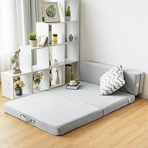 Heavens Tvcz Tri-fold Folding Lightweight Mattress Mat Carrying Guests Floor Handles Foam Sofa...