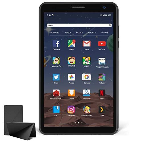 Tablet 8 Pollici, Tablet Andriod 10.0 con Processore Quad-Core 1.6GHz 3G ROM 32GB RAM, Tablet per Bambini con Fotocamera da 5MP, Tablet Offerte con WiFi Bluetooth Google Play (Nero)