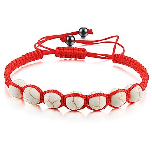 Men's and women's bead bracelets 8mm Adjustable Bracelet Natural Black Lava Stone Turquoises Woven Rope Yoga Balance Beaded Bracelets Men Women Handmade Jewelry Business birthday gifts