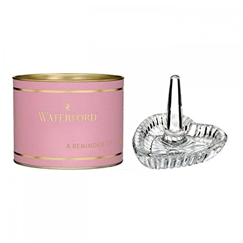 Waterford Heart Ring Holder (pink Tube)