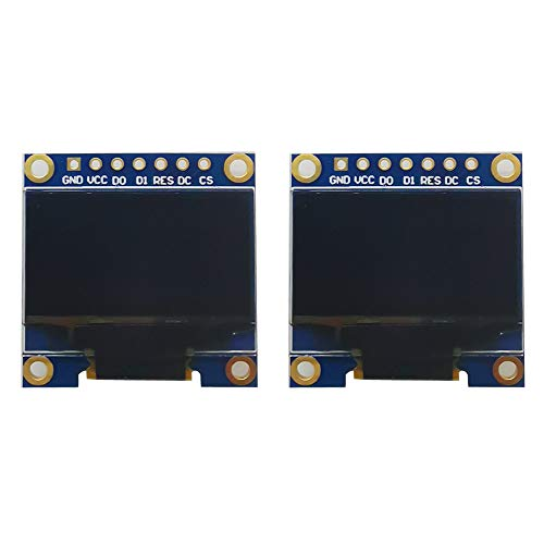 Greluma módulo de pantalla OLED de 2 piezas 128 x 64 Módulo de pantalla de 0,96 pulgadas I2C IIC Serial SSD1306 para Arduino