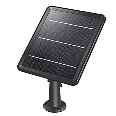 Solar Panel Compatible with HeimVision Freed 3 Rechargeable Battery Security Camera, Waterproof 3.2W/ 5.5V Solar Panel with 13ft/ 4m USB Cable, Support Continuously Supply Power for Security Camera