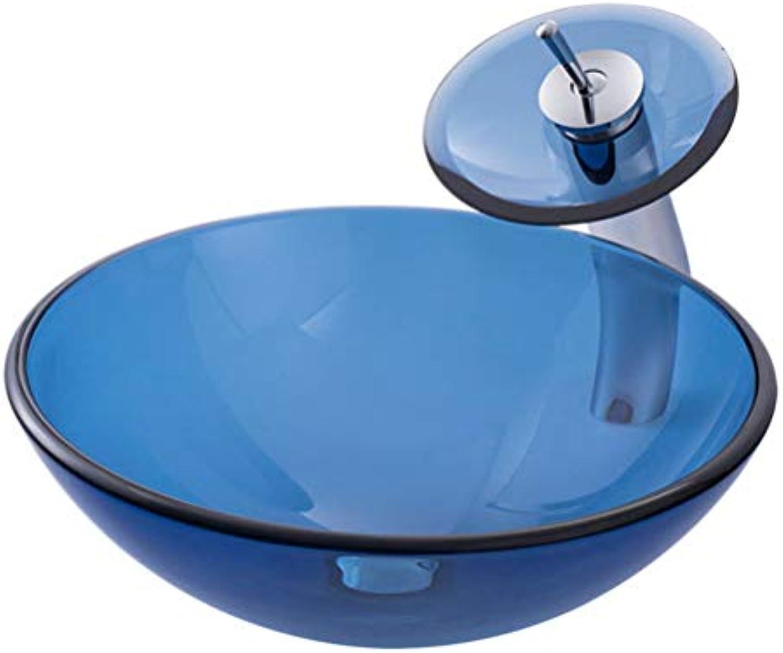 Badezimmer Waschbecken Gehrtetes Glas Badezimmer Art Basin Blau Glass Waschbecken