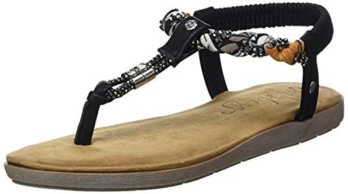 MUSTANG Damen 1394-801 Sandale, schwarz, 39 EU