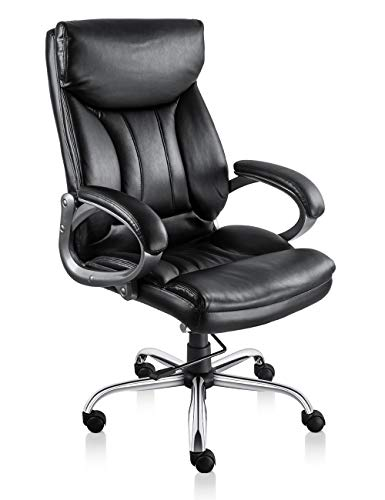 VO Furniture Executive Office Chair Big & Tall Office Chair with Lumbar Support Comfortable Dual Padding High-Back Executive Chair