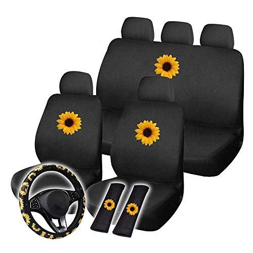 Car Seat Cover Complete Set of Universal/Flyer/Strap/Pad Kit, 12 x Car Seat Cover Set Four Seasons for Most Cars