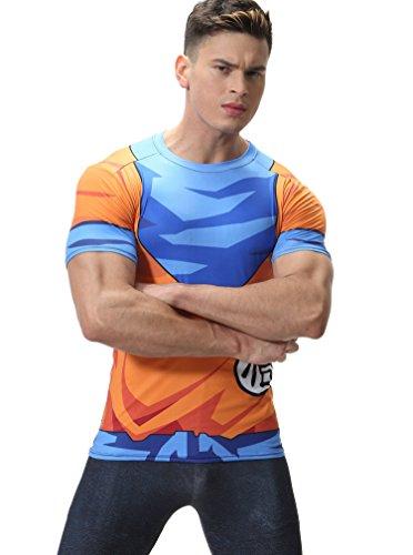 Cody Lundin Imprimir Tapas de la Manga Corta Camiseta Fitness Apretada Camiseta Hombres...