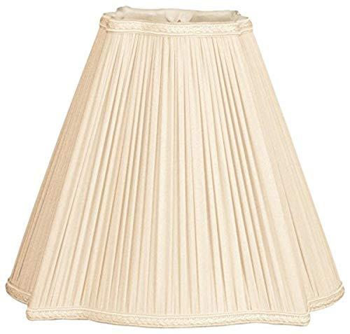 Royal Designs - Pantalla para lámpara (plisada), diseño de imperio cuadrado, Eggshell, 4.25 x 10 x 8.5
