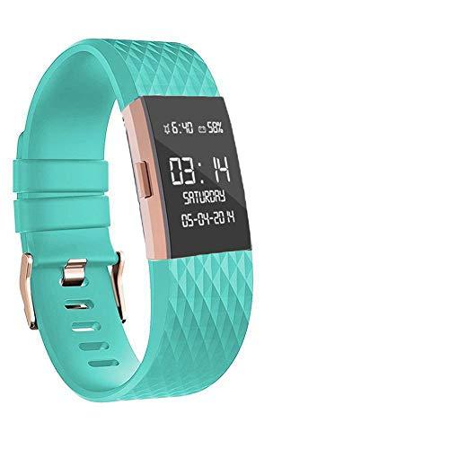 Wearlizer Für Fitbit Charge 2 Zubehör Armband, Silikon Ersatz Bands Für Fitbit Charge 2 Special Edition Lavendel Rose Gold (Türkis)