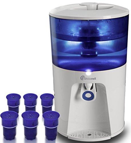 Dispensador de agua de 8,5 litros más 1 años de suministro de filtros