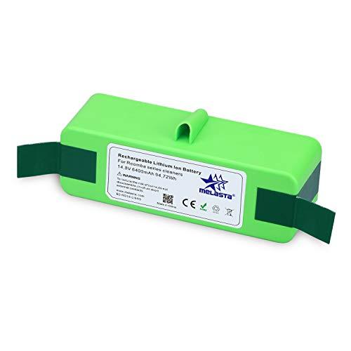 melasta 6400mAh Lithium Battery Replacement for iRobot Roomba 675 655 650 860 870 880 890 660 677 770 780 535 551 585 595 & 500600700800Series