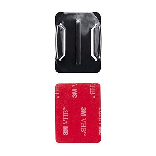 MadridGadgetStore - Supporto curvo con adesivo 3M per fotocamera d'azione Go Pro HD Hero5, Hero4, Hero3+, Hero 5 4 3+ 3 2 Black Session, Sjcam Sj4000, Sj5000, Sj6000, Rollei Xiaomi Yi, per montaggio laterale / frontale per casco, alta qualità