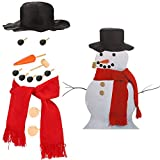 Orgrimmar Snowman Decorating Kit Snowman Making Kits Tools Winter Outdoor Toys Decoration