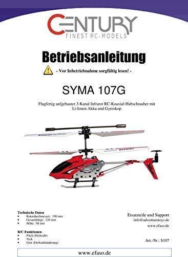 efaso Bedienungsanleitungen für Syma RC Modelle (Syma 107G)