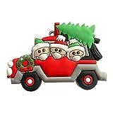 HIAME weihnachtsschmuck 2020,Weihnachten deko,anhänger Weihnachten Geschenk,weihnachtlicher Stoff,Personalisierte Christbaumschmuck Name des Familienmitglieds Weihnachtsanhänger (6)