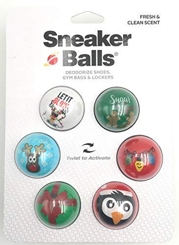 Sneakers Balls - 6 stuks - schoendeodorantballen - luchtverfrisser - schoendeo voor sneaker - sporttas - schoenenkast - spin - gymtas - auto - kerstmotieven