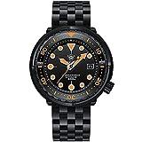 Steeldive 1975XT Orange Reloj de buceo automático para hombre,...