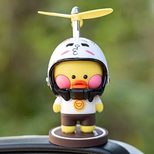 Arinda Car Decoration Cartoon Detachable Helmet Duck Interior Accessories Ornament for Car Center Console Dashboard