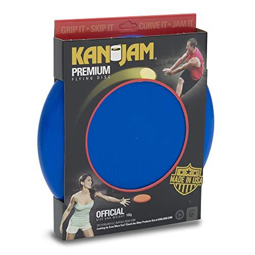 """Kan Jam Premium Flying Disc; Original Disc Throwing Game; 11"""" Disc, Multiple Colors (KJ168P-BL)"""