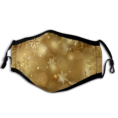 Mundschutz Maske Weihnachten Goldene Schneeflocken können in Büros verwendet Werden Haushalte, die empfindlich auf Haustiere und überfüllte Orte mit elastischem Ohrbügel reagieren