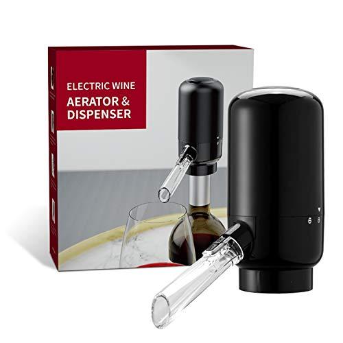 EWCover Aireador eléctrico de vino, decantador de vino inteligente automático de un toque y bomba dispensador de vino