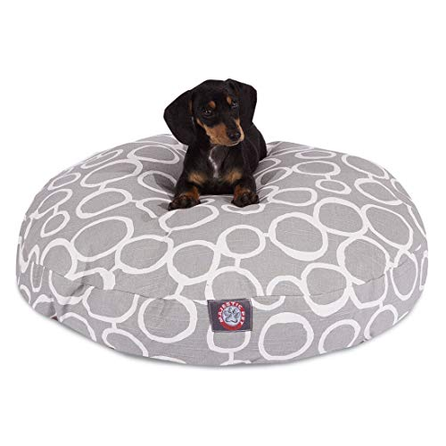 Majestic Pet Fusion Round Dog Bed Cotton Twill Removable Cover Gray Small 30 x 30 x 4