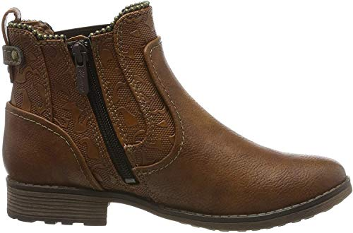 MUSTANG Damen 1265-516-307 Chelsea Boots, Braun (Cognac 307), 40 EU
