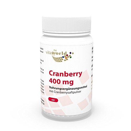 Arándano 400mg 60 Cápsulas Vita World Farmacia Alemania Bilberry - Vaccinium myrtillus