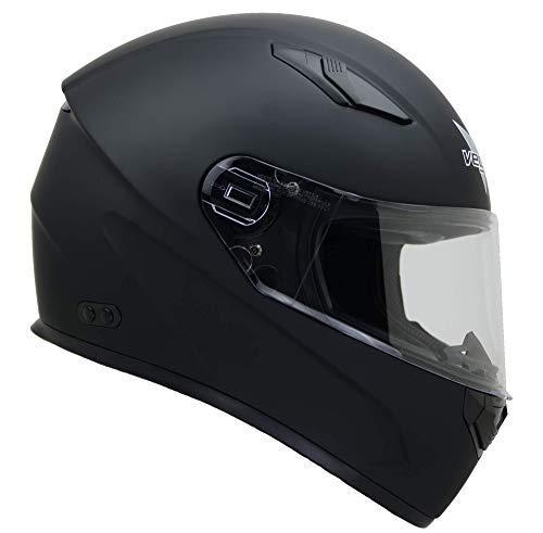 Vega Helmets 6100-059 Ultra Big Head Motorcycle Helmet for Men & Women w/ Large Heads or Cheeks Matte Black 5XL